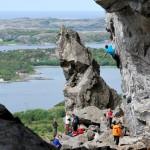 escalade à Flatanger, secteur de la grotte