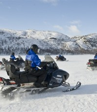 Safari à moto neige