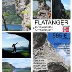 Escalade à Flatanger juillet 2014